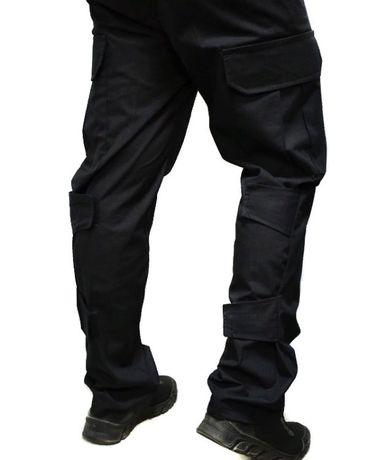 Тактические штаны с липучками черные | темно-синие