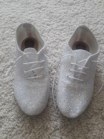 Туфли,балетки в паетках для танцев