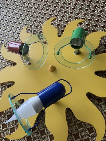 Lampa sufitowa  do pokoju dziecięcego - słoneczko, plafon , kinkiet