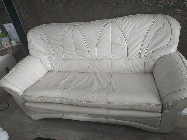 Sofa + fotele skórzane