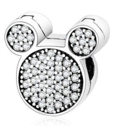 Pandora charms serce Miki i Minnie Disney srebro 925 KLIPS
