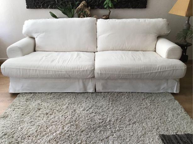 Sofa 3 lugares com banqueta para chaise long