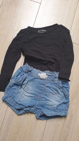Czarna bluzka, spodenki 92