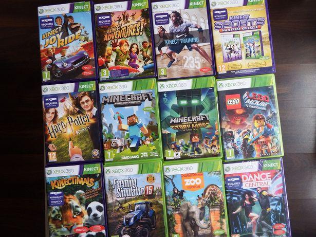 xbox 360 GRY DLA DZIECI i na KINECT Minecraft LEGO Zoo Joy Ride SPORT