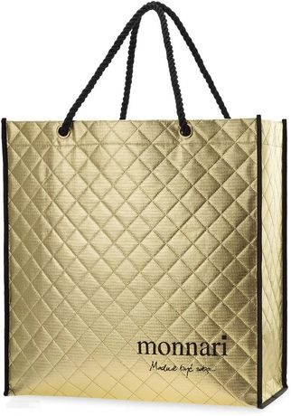Pikowana torba Monnari shoperka Złota