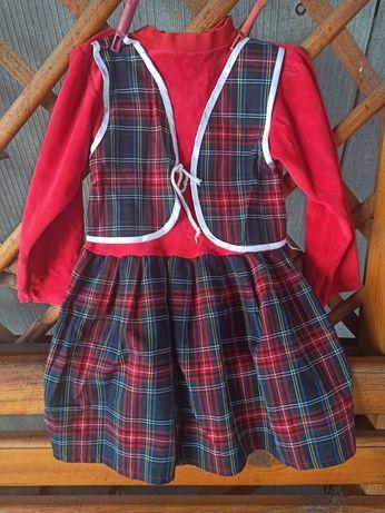 Детское платье - шотландка
