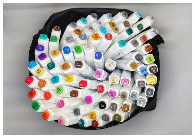 Популярные маркеры TOUCHFIVE TouchNew 80 цветов! с отзывами покупателе