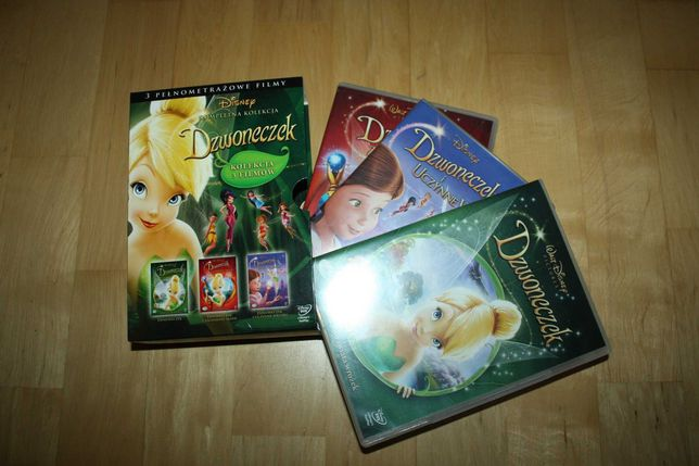 Dzwoneczek zestaw 3 filmów DVD  Disney'a