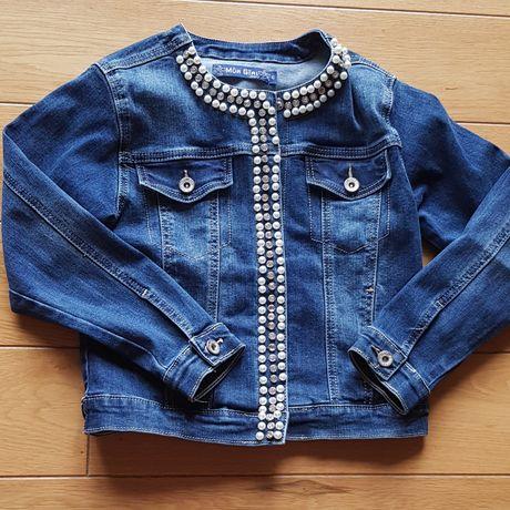 Katana jeans z perełkami