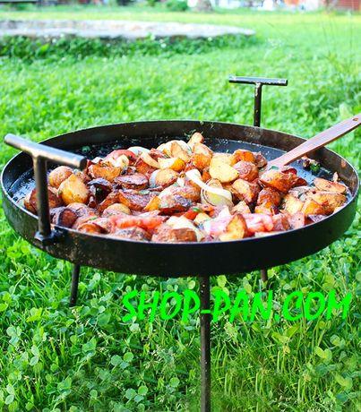 Сковорода з диска борони для костра 40см для жарки дискової борони ОПТ