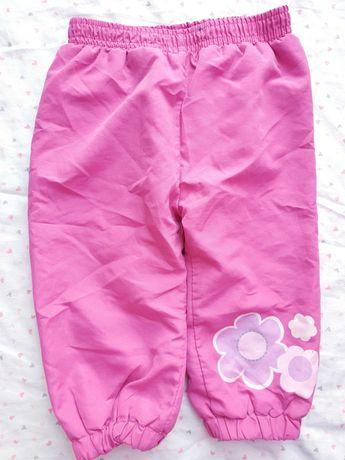 Spodnie ocieplane dla dziewczynki