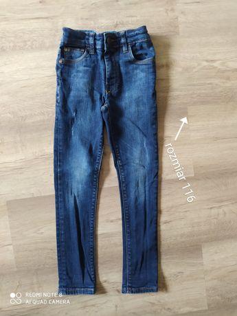 spodnie rurki jeansowe dla chłopca rozmiar 116