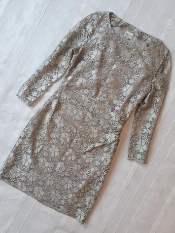 Reiss новое брендовое кружевное платье/ сукня коктейльное вечернее.