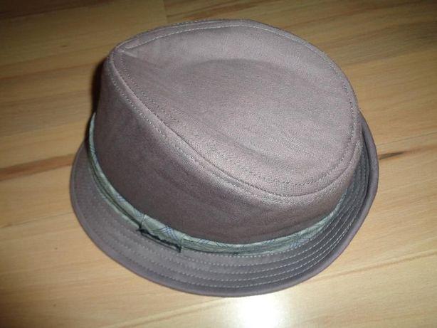 CALVIN KLEIN modny szary oryginalny kapelusz męski cotton jak nowy S/M
