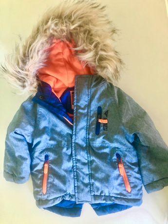 Niebieska kurtka zimowa dla chłopca 74 cm firmy Cool Club