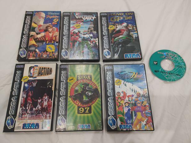 Jogos Sega Saturn - Virtual On, NBA Action, Hang On GP 96, Winter Heat
