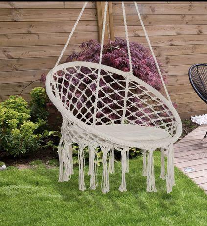 Cadeira de rede suspensa design moderno