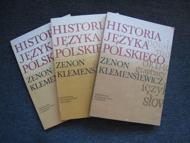 Historia języka polskiego 3 tomy Zenon Klemenesiewicz