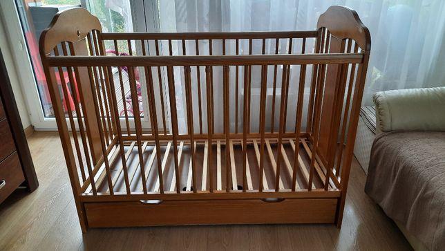 Łóżeczko dziecięce TOMI XIV SŁOŃ 120x60 z szufladą