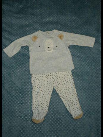 Piżamka z misiem, piżama 68-74