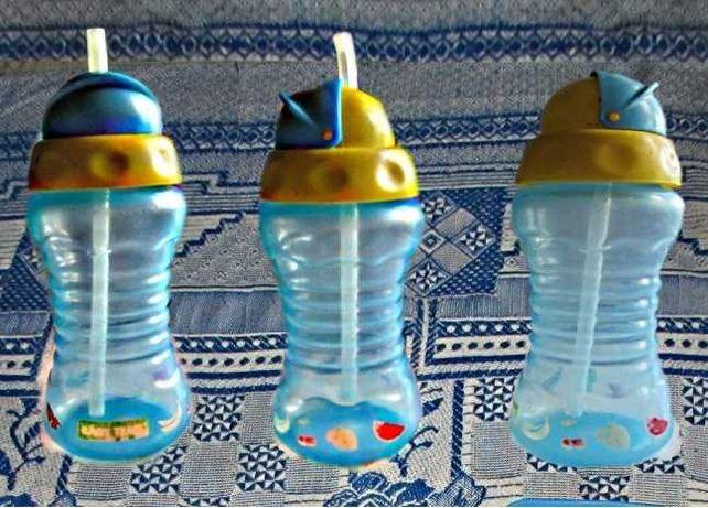 Бутылочка поильник непроливайка с силиконовой трубочкой