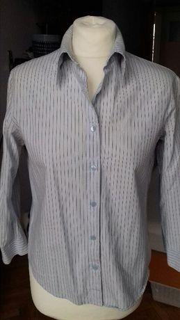 ZARA BASIC - bluzka koszulowa w prążki - M/L/30