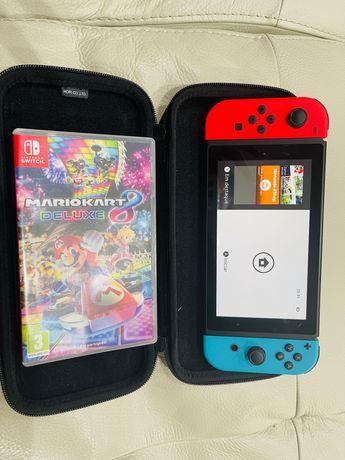 Nintendo Switch + Mario Kart (Jogo)