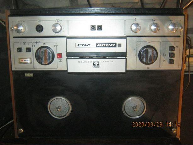 Магнитофон Маяк-203 бобинный