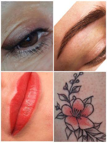 АКЦИЯ!!!Перманентный макияж -пудровые брови,веки,губы