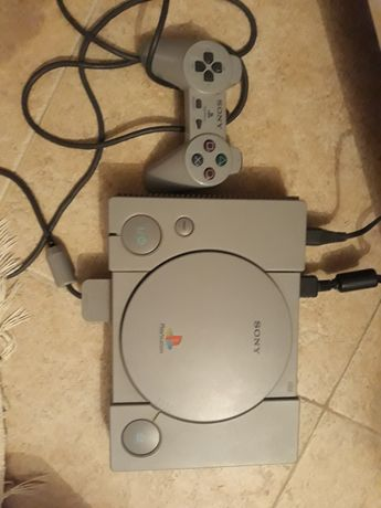 PS1 completamente funcional com jogos e acessórios