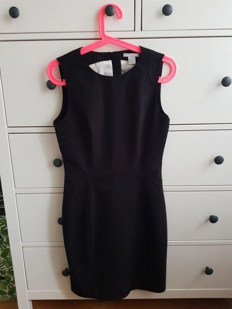 H&M sukienka mała czarna princeska rozm. S