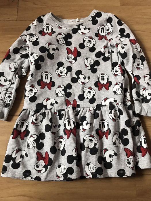 H&m sukienka dresowa minnie miki 122/128 Chocianowice - image 1
