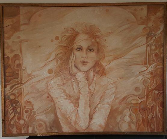 Quadro Pintura óleo sobre tela - Silvia Vale - 92cm x 73cm - 1999