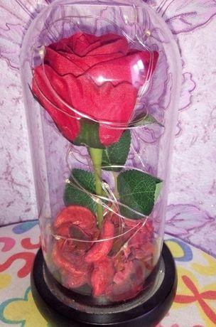 Шикарная Роза в колбе подарок на 8 марта
