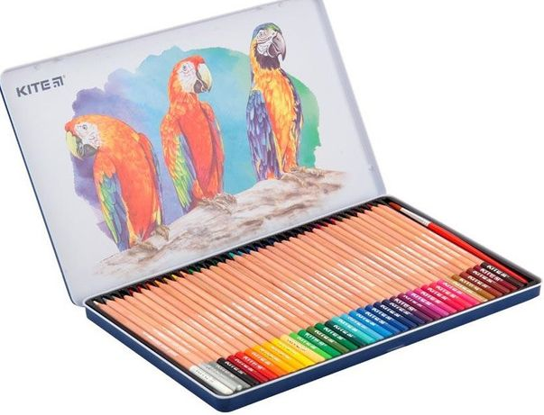 Акварельні олівці кольорові виготовлені з міцної деревини.