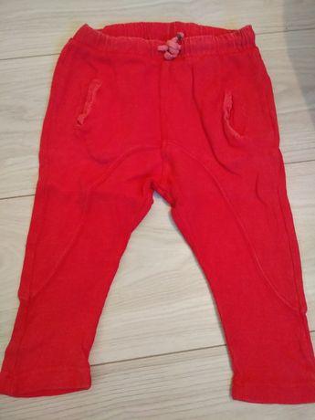 Zara legginsy spodnie dresowe r.86