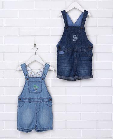 Новый лёгкий, дышащий джинсовый комбинезон на 1-2 года