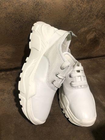 Кожаные брендовые кроссовки ботинки Bogner 39р Gucci Prada