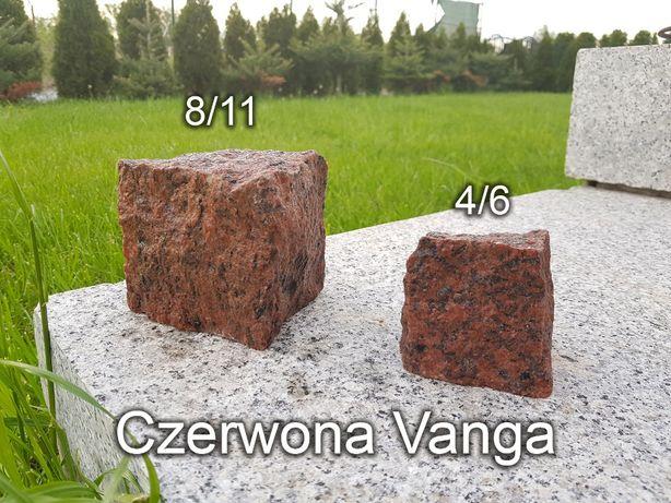 Kostka granitowa, Czerwona Vanga - 8/11 i 4/6, kostka brukowa