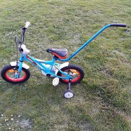 """Rower Kross Tom 12"""" rowerek boczne kółka pałąk stan bdb"""