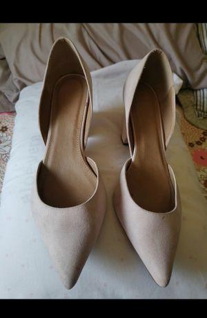 Vendo sapatos camurça rosa clarinho n 44