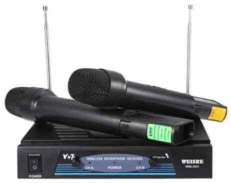 WEISRE WM-03V Profesjonalny Mikrofon Bezprzewodowy Nadajnik