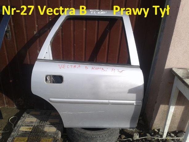 Opel Vectra B Lift Kombi Drzwi Tył Prawe Srebrne Prawy tył Listwa Z157