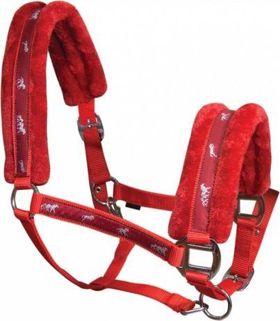 Kantar dla konia podszyty misiem czerwony cob i pony