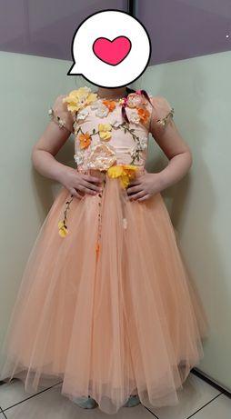 Платье нарядное на выпускной красивое рост 116, 122, 128, 134 шнуровка