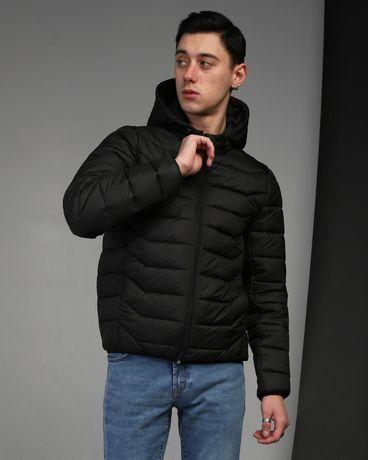 Стильная и качественная черная мужская куртка Джеймс. Осіння куртка