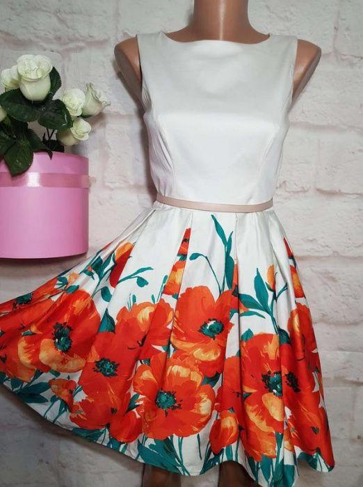 Платье миди коттоновое пышная юбка р с-м от jane norman Одесса - изображение 1