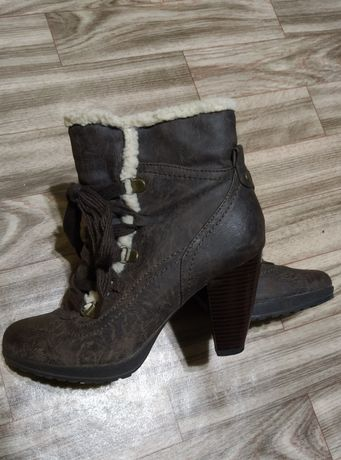 Полусапожки, Ботинки темно-коричневые 38 р