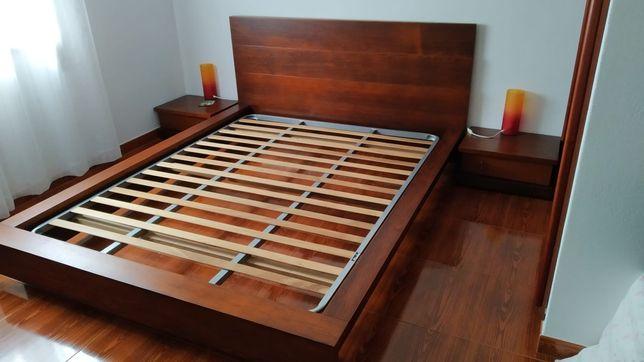 Cama casal madeira maciça