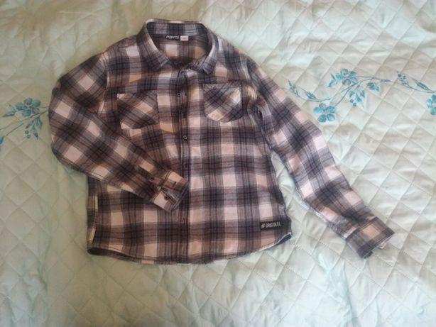 Koszula flanelowa krata czarno-biała Pepperts i czerwono-czarna